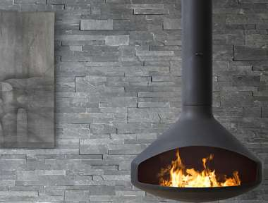 indendørs stenvæg DECOPANEL BLACK SLATE