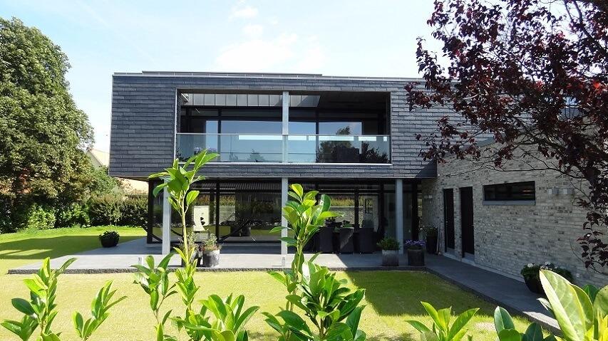 villa risskov - vision arkitekter - facadesystem med naturskifer.