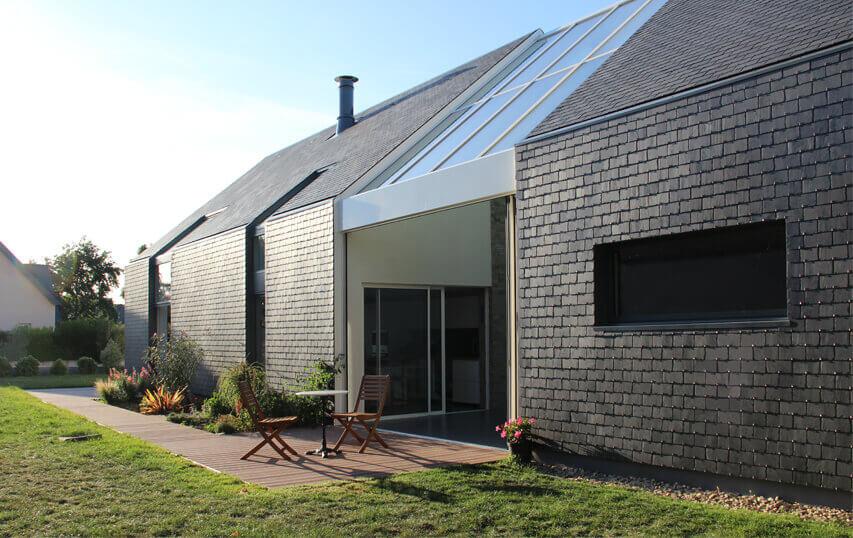 Bioklimatisk hus i Frankrig