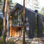 Naturskiferbeklædt hus i Magdalenka, Polen